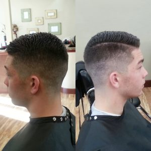 Men's faded haircut